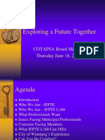 Exploring a Future Together - Presentation to COTAPSA