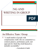 Working and Writing in Group