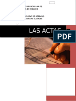 Derecho Notarial Actas