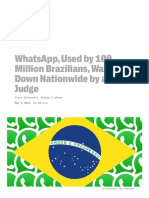 whatsapp used by 100 million brazilians was shut down nationwide by a single judge