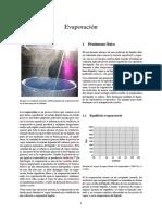 Evaporación Formulas Para Calculos
