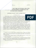 The Decline of the Juvenile Death Penalty