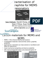 Micromechanical Nanographite Resonators Older