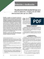 Definicion y Clasificacion de La Enfermedad Del Ojo Seco