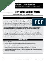 Fce Spiritualityandsocialwork