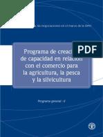 Programa de Creacion de Capacidad en Relacion Con El Comercio Para La Agricultura La Pesca y La Silvicultura