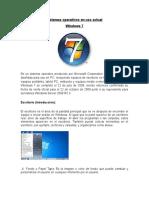 Sistemas Operativos en Uso Actual