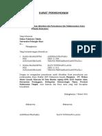 Contoh Surat Permohonan Pengantar KP ke Fakultas