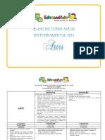 Plano de Curso Anual Fundamental 1º Ao 5º Ano 2016 Artes