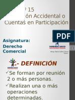 Tema Nº 15 Asociación Accidental o Cuentas en Participación