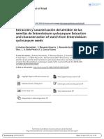 Extracci n y Caracterizaci n Del Almid n de Las Semillas de Enterolobium Cyclocarpum Extraction and Characterization of Starch From Enterolobium