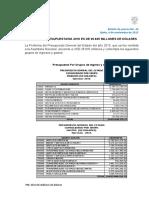 Boletín de Prensa Proforma Presupuestaria 2016 31 Octubre 2015