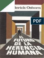 Frederick Osborn - El Futuro de La Herencia Humana