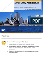 SAP Simple Finance Universal Document Architecture