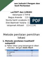 contoh layout dan lokasi Industri