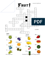 Free Printable Fruit Crosswords and Fruit Worksheets