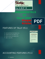 Tally Featuers and Tally Erp 9