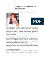 Cinco Claves Para Convertirse en Un Líder Motivador