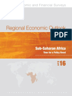 IMF Regional Economic Outlook Sub-Saharan Africa April 2016