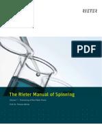The Rieter Manual of Spinning Vol. 7 2451-V1 en Original 68509