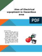 Inspection of Electrical Eqpuipment in Hazardous Area