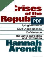 Arendt Hannah Crises of the Republic