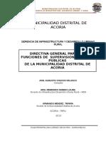 Directiva General Para Funciones de Supervision