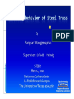 Buckling Behaviour of Steel Truss-wongjeeraphat