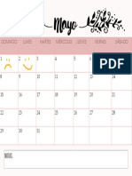 Calendario - Mayo