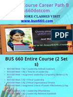 BUS 660 Course Career Path Begins Bus660dotcom
