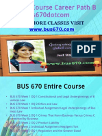 BUS 670 Course Career Path Begins Bus670dotcom
