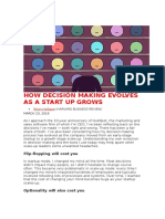 How Decision Making Evolves as a Start Up Grows (1)