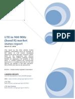 GSA LTE900 Status