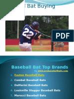 Baseball Bat Reviews and Buying Guide
