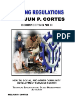 MELJUN CORTES Tesda Tr Training Regulations Bookkeeping Nc III Updated Edited