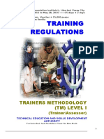 MELJUN CORTES TESDA TR TM1 Trainers Methodology Level I (Training Regulations)