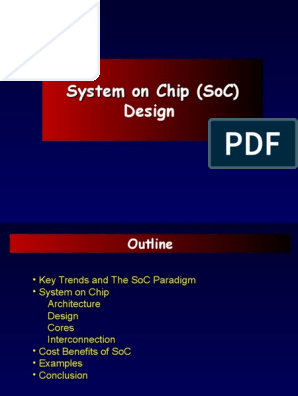 Soc System On A Chip Integrated Circuit Free 30 Day Trial Scribd