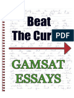 Beat the Curve - Gamsat Essays