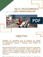 Manual para el procedimiento de pruebas hidrostticas