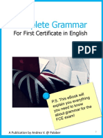 Complete Grammar for First Certificate in English