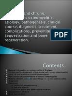 Sub Acute and Chronic Osteomielitis