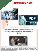 Cisco CCNA 200-120 Pass4sure Braindumps Questions