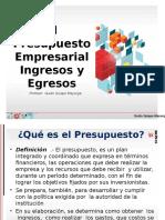 8.0.- Presupuesto de Ingresos y Gastos