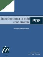 Benoit Malbranque Introduction à La Méthodologie Économique(2)