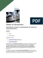 Master en Mecotronica