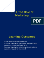 3 1 1 Role of Marketing