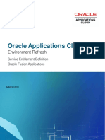 Oracle Applications Cloud Environment Refresh