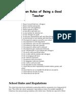 28 Golden Rules of Being a Good Teacher