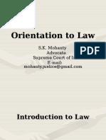 Orientation to Law