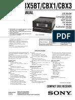 Sony Hcd-bx5bt Cbx1 Cbx3 Ver.1.5 Sm